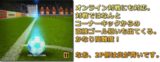 Flick Kick Football コーナーキック