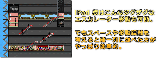 The Tower for iPad ジグザグ移動