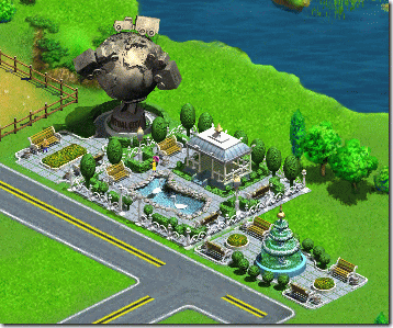Virtual City 公園(Fountain、Monument、Park)
